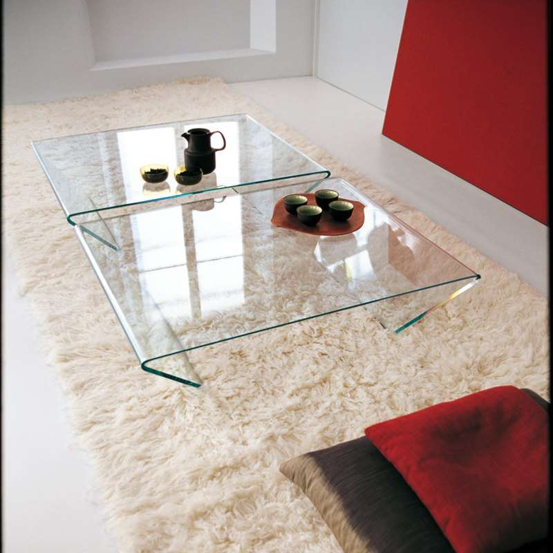Table Basse Design Rectangulaire Ou Carree En Verre Rubino Sovet