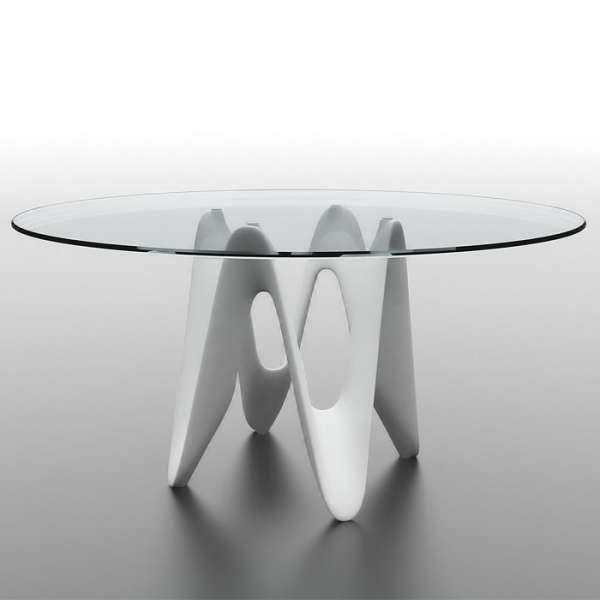 Table ronde design en verre - Lambda Sovet® 8 - 13