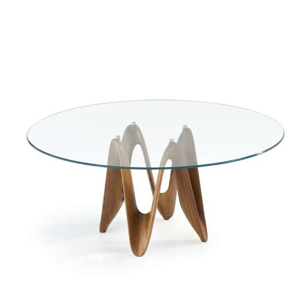 Table ronde design en verre - Lambda Sovet® 9 - 12