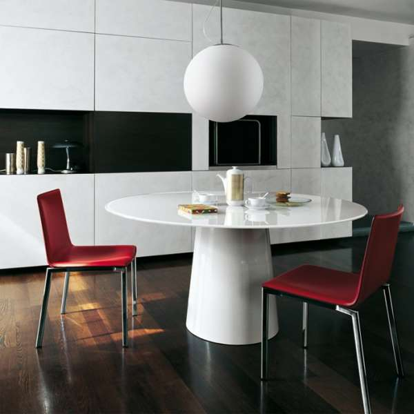 Table ronde design en verre - Totem Sovet® 4 - 4