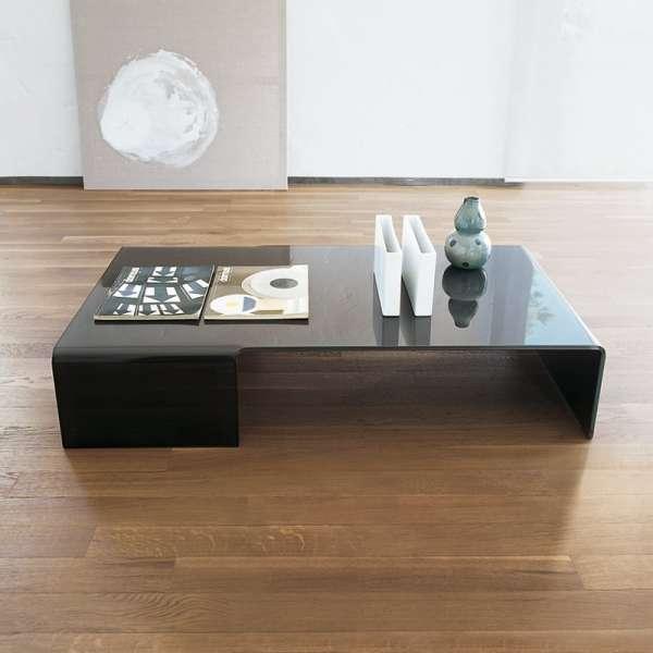 Table basse design rectangulaire en verre - Spider Sovet® - 1