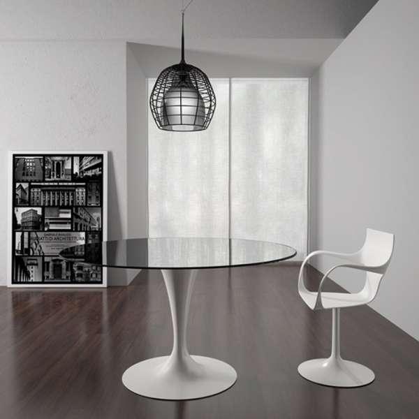 Table ronde design en verre -  Flute Sovet®  4 - 3