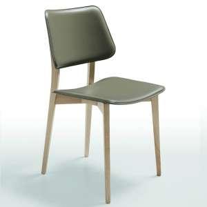 Chaise vintage en cuir havana U53- Joe Midj®