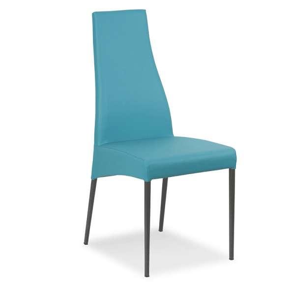 Chaise de salle à manger en vinyle - Carla - 1