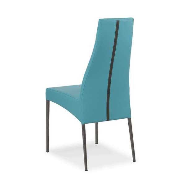 Chaise de salle à manger en vinyle - Carla 2 - 2