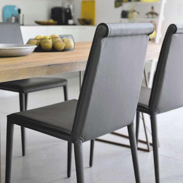 Chaise en cuir Cinthia - 13