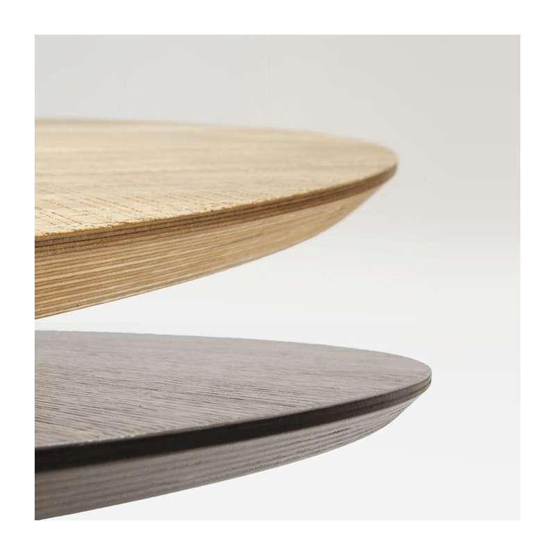 table design ronde plateau bois totem sovet 4. Black Bedroom Furniture Sets. Home Design Ideas