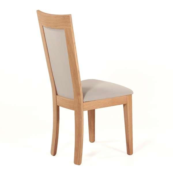 Chaise contemporaine bois massif et tissu fabrication française - Crocus 1650 - 3