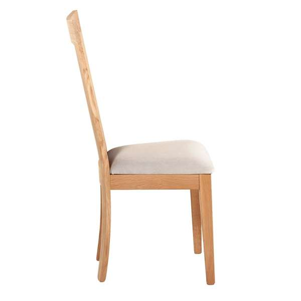 Chaise contemporaine bois massif et tissu fabrication française - Crocus 1650 - 2