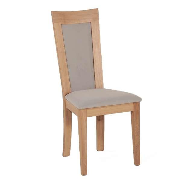 Chaise contemporaine en tissu et bois massif fabriquée en France - Crocus 1650 - 1