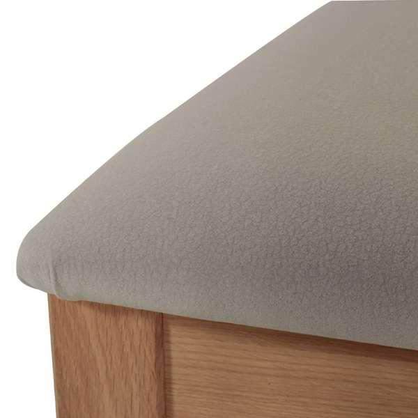 Chaise contemporaine bois massif et tissu fabrication française - Crocus 1650 - 4