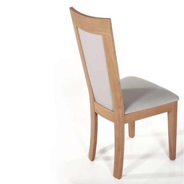 Chaise contemporaine bois massif et tissu fabrication française - Crocus 1650 - 5