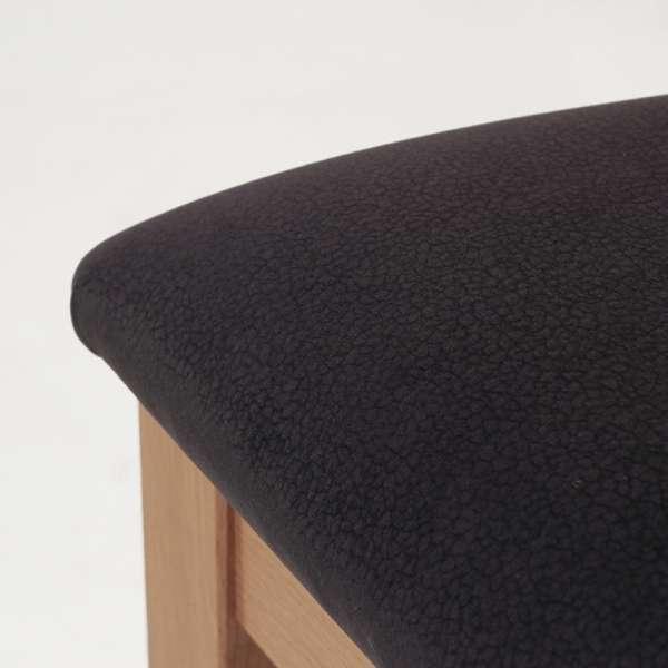 Chaise française dossier bois et assise tissu gris anthracite - Crocus - 6