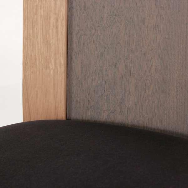 Chaise française dossier bois et assise tissu gris anthracite - Crocus - 7