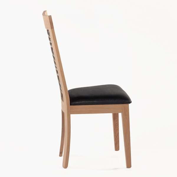 Chaise fabrication française dos bois fantaisie - Crocus 1654 - 2