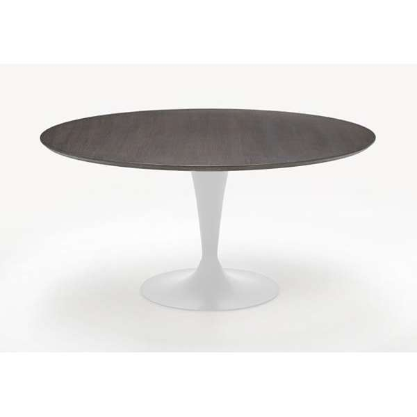 Table ronde design plateau bois - Flute Sovet® 4 - 6