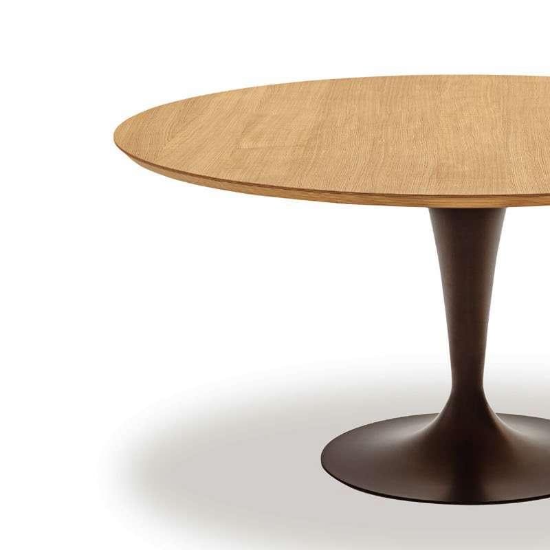Table Ronde Design Plateau Bois Flute Sovet 4 Pieds Com