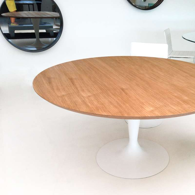 table ronde design plateau bois flute sovet