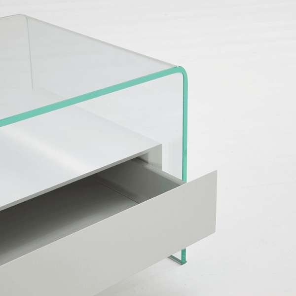 Table basse en verre avec tiroir - Bridge Sovet® 3 - 2