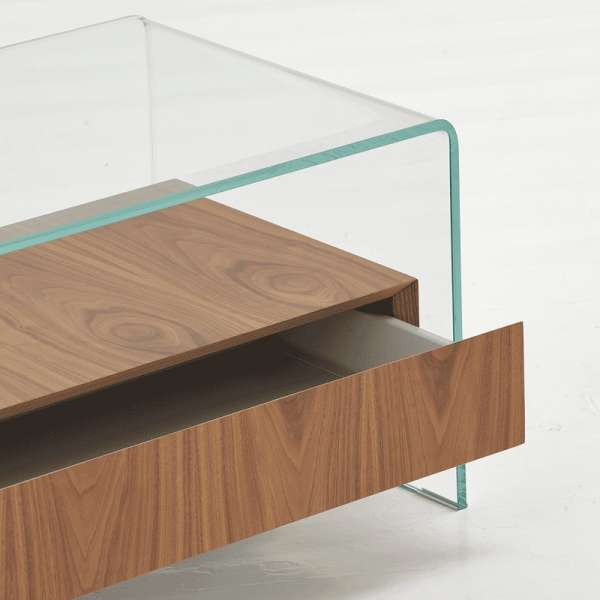 Table basse en verre avec tiroir - Bridge Sovet® 4 - 3