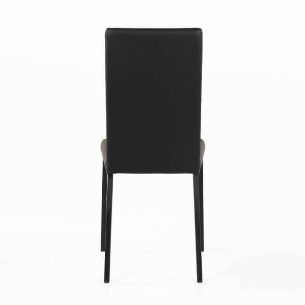 Chaise contemporaine en vinyl noir - Garda 5 - 6