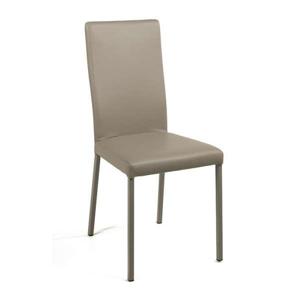 Chaise contemporaine en vinyl taupe - Garda 9 - 10