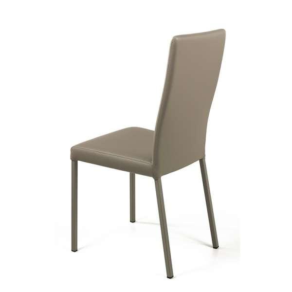 Chaise contemporaine en vinyl taupe - Garda 12 - 13