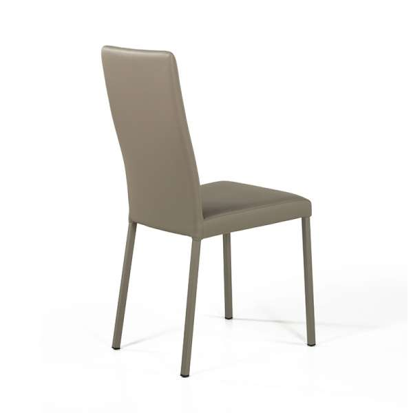 Chaise contemporaine en vinyl taupe - Garda 10 - 11