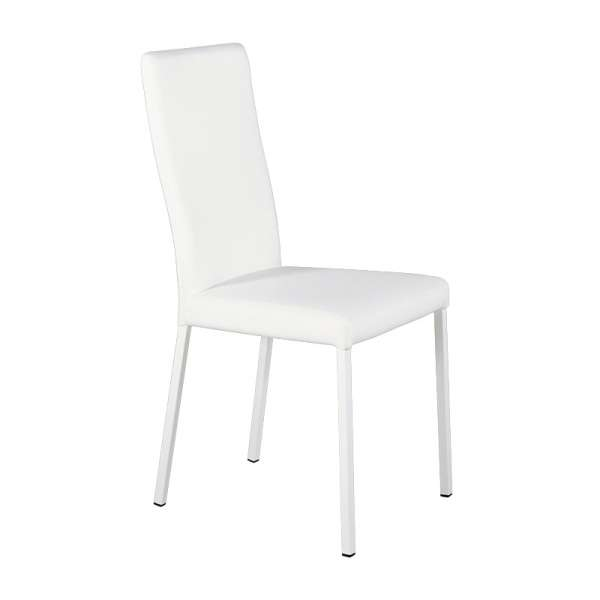 Chaise contemporaine en vinyl blanc - Garda 15 - 15