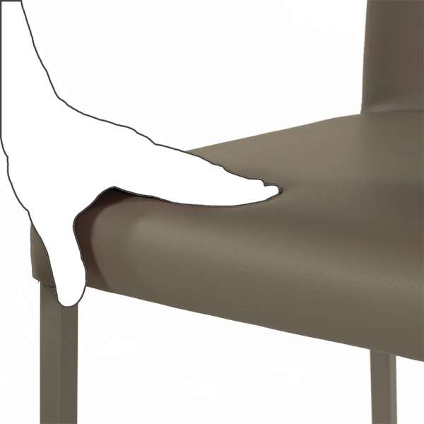 Chaise contemporaine en vinyl taupe- Garda 13 - 22