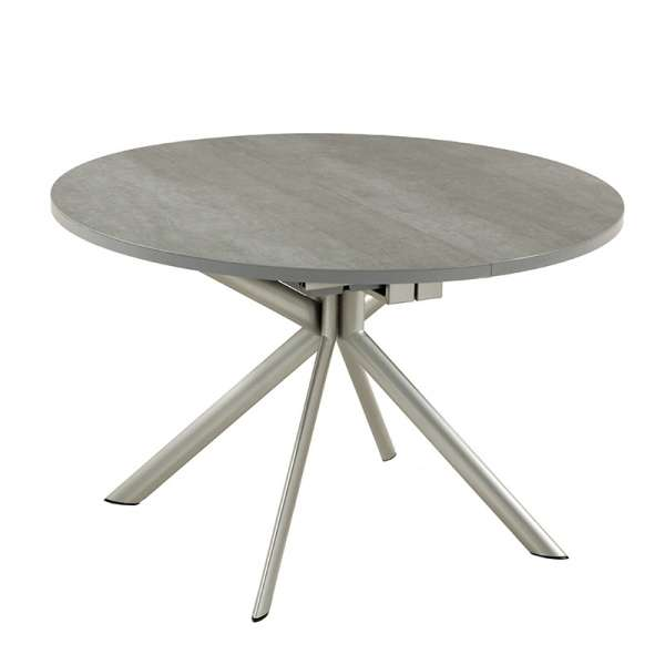 Table ronde en céramique grise extensible - Giove - 2