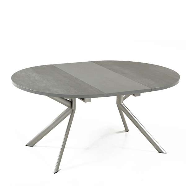 Table ronde en céramique grise extensible - Giove 4 - 5