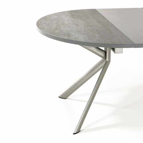 Table ronde en céramique grise extensible - Giove 5 - 6