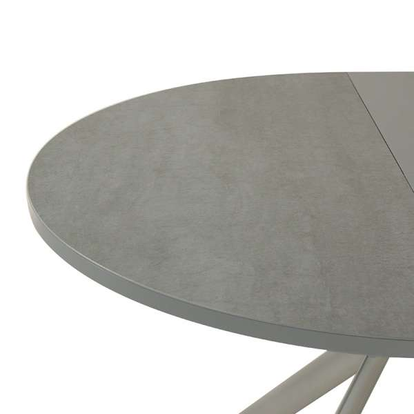 Table ronde en céramique grise extensible - Giove 6 - 7