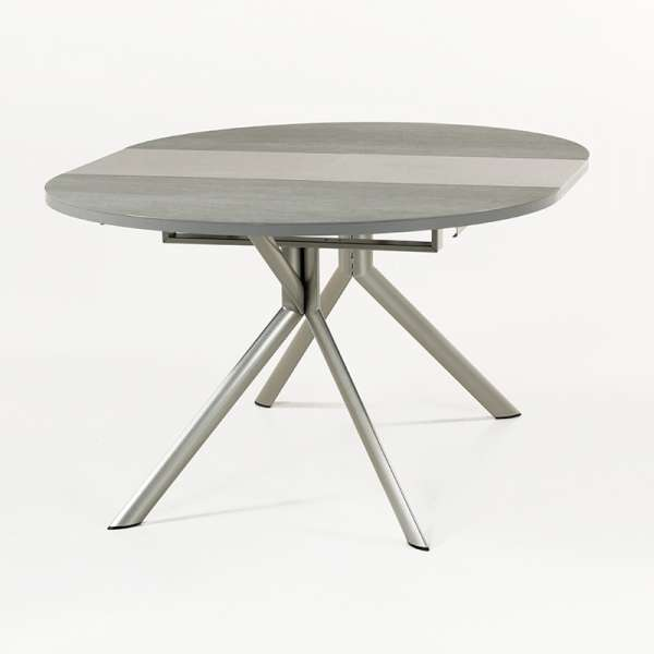 Table ronde en céramique grise extensible - Giove 8 - 9