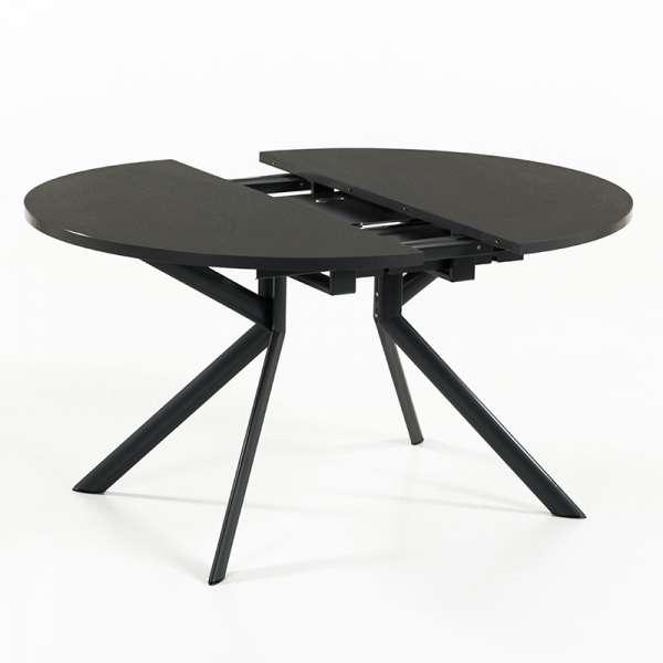 Table ronde en céramique noire extensible - Giove 10 - 11