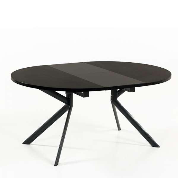 Table ronde en céramique noire extensible - Giove 14 - 14