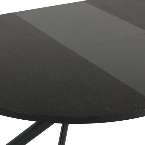 Table ronde en céramique noire extensible - Giove 15 - 15