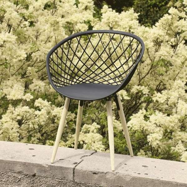 Chaise design en polypropylène noir - Sidera - 10
