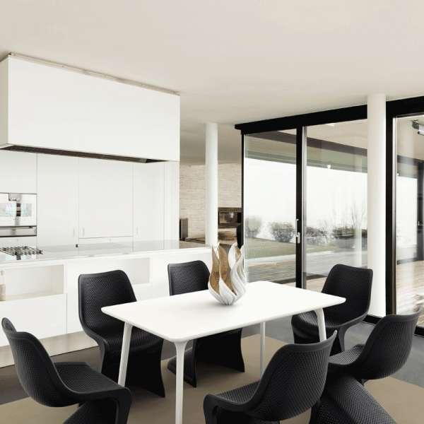 Chaise design en polypropylène noir ajouré - Bloom - 9