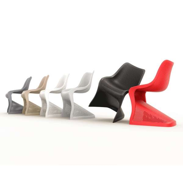 Chaise design en polypropylène ajouré - Bloom - 14