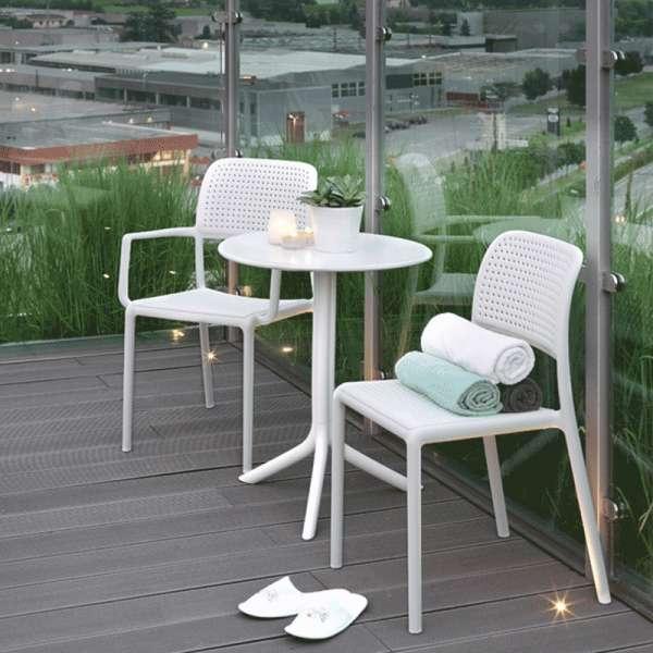 Chaise de jardin en polypropylène blanc - Bora Bistrot - 2