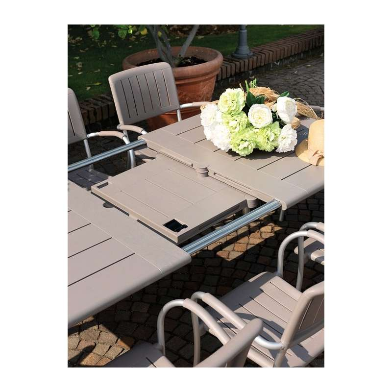 Table de jardin extensible en polypropylène et aluminium - Maestrale ...