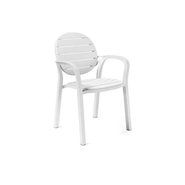 Fauteuil de jardin en polypropylène blanc - Palma - 8