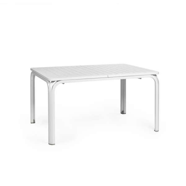 Table de jardin extensible en polypropylène blanc - Alloro 140 - 10
