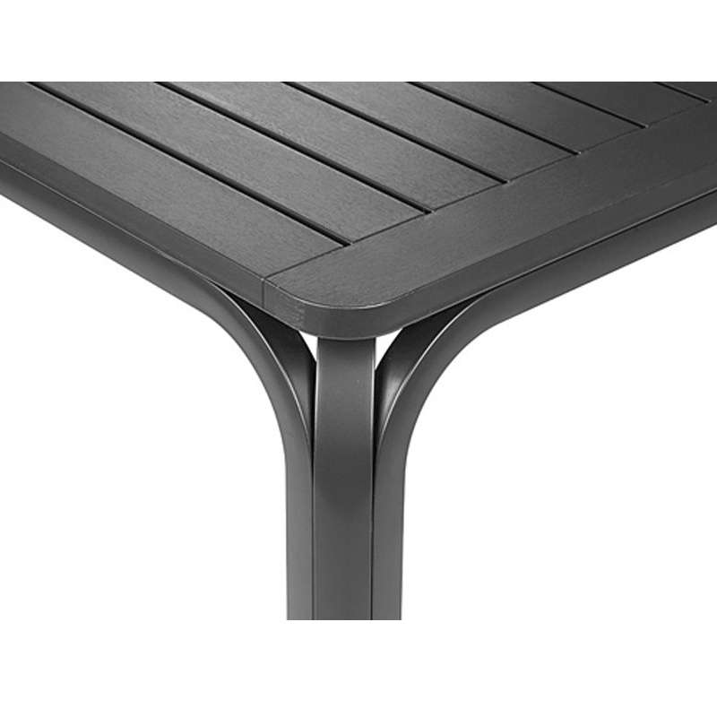 Table De Jardin Extensible En Polypropylène Anthracite   Alloro   10