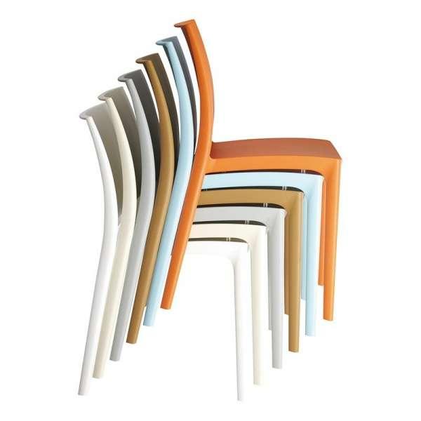 Chaise de jardin en polypropylène empilable - Maya - 35