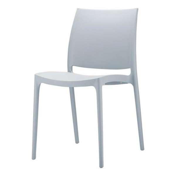 Chaise de jardin en polypropylène gris argent - Maya - 24