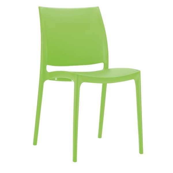 Chaise de jardin en polypropylène vert - Maya - 17