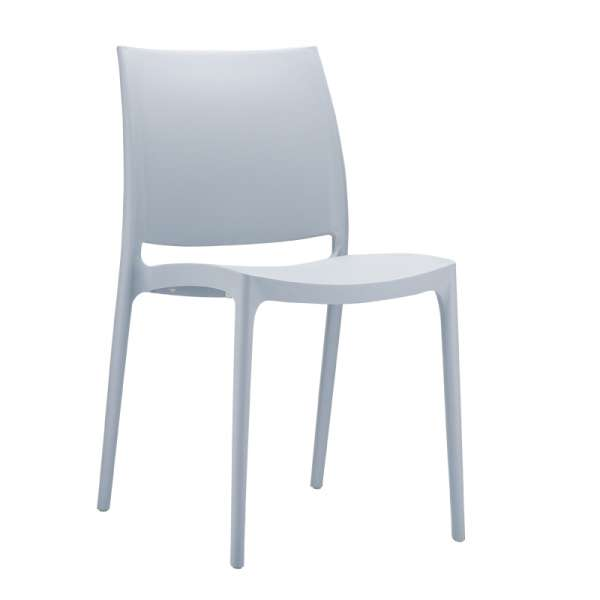 Chaise de jardin en polypropylène gris argent- Maya - 23